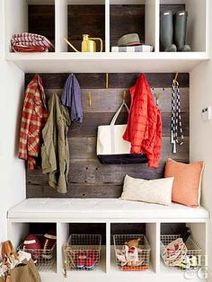 An entryway closet is a major perk, and with a little know-how, you can make the most of this sacred storage space. Our tips will help you turn your entryway closet into an organizational powerhouse that holds everything your family needs. Front Closet, Entry Closet, Hall Closet, Closet Space, Garage Entry, Vestibule, Entryway Organization, Closet Designs, Mudroom