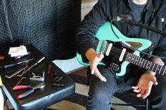 Patrick Grant's surf green #Jaguar #guitar