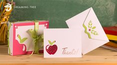 Thank You Card and Box SVG