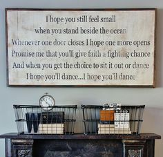 I hope you dance sign by BetweenYouAndMeSigns on Etsy, $125.00