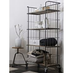 Industrial Trolley Storage with 4 Shelves | Unique display cabinet \ Industrial style interiors