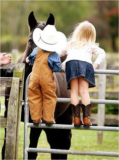 My kids will be little cowboys & cowgirls . <3
