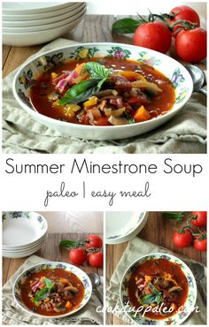 Paleo Summer Minestrone Soup | Cook It Up Paleo