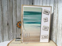Serene Scenery DSP & Sunshine Wishes stamps by Stampin Up created by Jenny…
