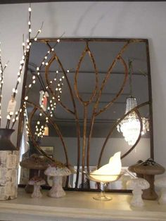 very cool mirror- do this with other stained glass patterns