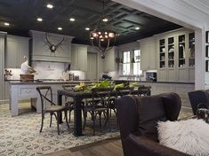 Wow!! cabinet color and ceiling. Featuring: Wendy Posard & Associates