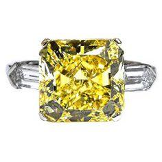 Fancy Intense Yellow Diamond Nine Carat Ring
