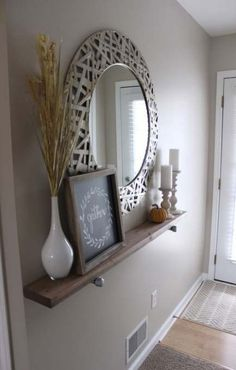 Shabby Chic Wooden Runner Entry Table Idea Entryway and Hallway Decorating Ideas Chic Entry idea Runner Shabby Table wooden Decoration Hall, Decoration Entree, Wall Decorations, Aquarium Decorations, Hall Way Decor, Front Hall Decor, Living Room Decorations, Entry Tables, Sofa Tables