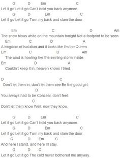Demi Lovato - Let it Go Chords