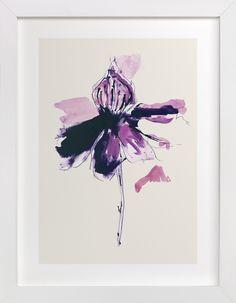 The Garden's Purple Wonder by Deborah Velasquez for Minted