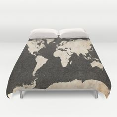 Rustic world map microfiber duvet cover duvet bedroom kids and world map ink lines duvet cover gumiabroncs Gallery