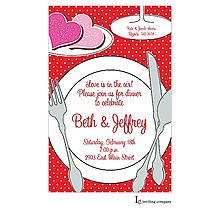 Engagement Party Invitations heart place setting