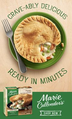 Crave-able deliciousness is only a few minutes away with Marie Callender's Chicken Pot Pie. Tap the pin to discover more of our pot pie varieties. Pork Recipes, Low Carb Recipes, Vegan Recipes, Chicken Recipes, Cooking Recipes, Chipotle, Soup Appetizers, Scallop Recipes, Amor