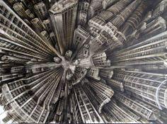 Vertigo Inducing Paintings by Fabio Giampietro - My Modern Metropolis