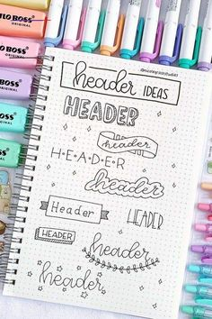 Best Bullet Journal Header & Title Ideas For 2019 The ul. - Doodle ideen Best Bullet Journal Header & Title Ideas For 2019 The ul. - Doodle ideen - Frame ideas for your bullet journal/study notes 📝 💕 📷 Doodle floral wreath vector collection