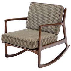 Danish Modern Mid Century Modern Rocking Chair by Selig