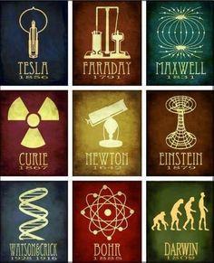 Iconos de la ciencia.#tucerebrodigital