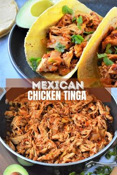 Chicken Tinga made with shredded chicken, tomatoes, and chipotle chilis in adobo. Hearty and boldly flavored, this Mexican dish is perfect for tacos, burritos, tostadas, or as a main dish with rice and beans. #mexicanfood #comfortfoods #weeknightdinners #chickenrecipes Yummy Chicken Recipes, Hamburger Recipes, Delicious Dinner Recipes, Yum Yum Chicken, Stay Healthy, Healthy Meals, Healthy Recipes, Mexican Dishes, Mexican Food Recipes