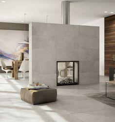 Dividing wall fireplace