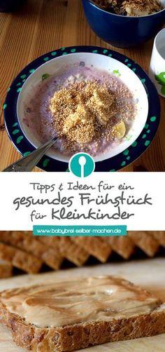 Tipps für ein gesundes und abwechslungsreiches Frühstück für Kleinkinder und ältere Babys.