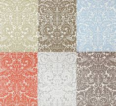 I'm not a wallpaper person, but if I were, I'd be all over this mess...so pretty!  I think I'd choose taupe.