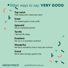 Other ways to say: Very Good #English #LearnEnglish @English4Matura