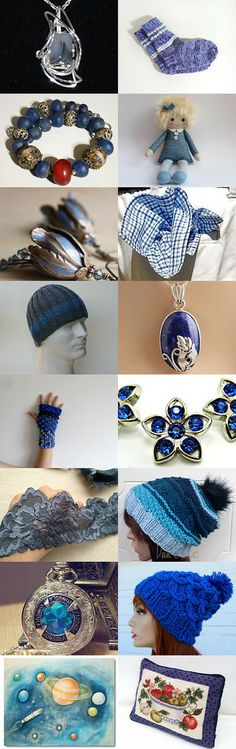 Blue through the whole product range by Monika on Etsy  --Pinned with TreasuryPin.com