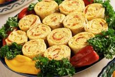 Tortilla Roll Ups with Olives: Tortilla Rolls with Pimiento