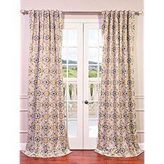 Amazon.com: Half Price Drapes BOCH-KC41-84 Blackout Curtain, Soliel Yellow Grey: Home & Kitchen