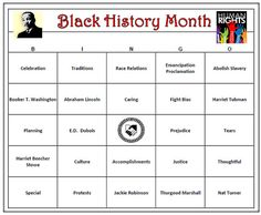 Black History Month Bingo Game is an interactive and creative way to celebrate and discuss Black History Month. Bingo words include notable black Americans such as Martin Luther King, Frederick Douglass, Nat Turner, Harriet Tubman and Jackie Robinson. Bingo words include historical themes such as Emancipation Proclamation, Civil War, and Slavery.  Downloadable file includes 60 unique cards. EASY TO PREPARE AND PLAY ! Educational. Great for a classroom activity.  Includes 60 Bingo Cards which…