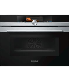 iQ700 Compact oven with microwave CM678G4S6B  The compact oven with a height of 45 cm and a built-in microwave and sensors for quick, perfect combination cooking. varioSpeed: reduce cooking times by up to 50%. TFT Touchdisplay Plus: clear text display and intuitive operation. roastingSensor and bakingSensor: detect the exact moment when your food is done. activeClean: the automatic system for effortless cleaning.