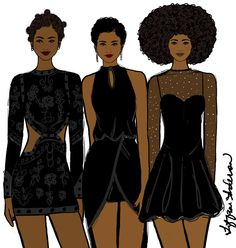 Tiffani Anderson Illustration — Black