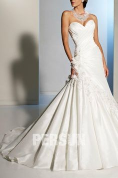 Sweetheart Ruched Wedding Dress | Sweetheart Ruched Applique Ivory Taffeta Wedding Dress On Sale - US$ ...