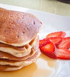 Delicious eggless pancake recipe that produces wonderful, fluffy pancakes great for breakfast!