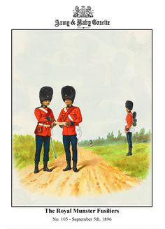 British; Royal Munster Fusiliers, c.1893 by R.Simkin