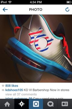buy online 1f2c7 5b9a9 Kevin Durant Barbershops VI 😍 l m getting them soon All Brands, Kevin  Durant