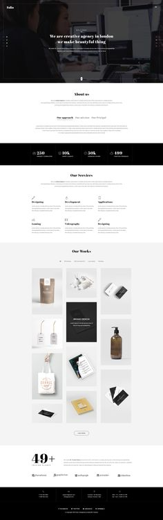 Folio - Multipurpose-Agency-Portfolio PSD Template by Kalanidhithemes