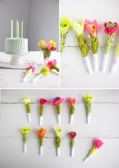 DIY: flower party blowers