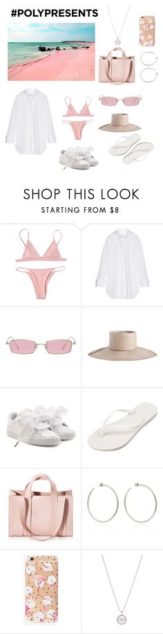 """#PolyPresents: Dream Vacation"" by kimcindyjarvis ❤ liked on Polyvore featuring Marques'Almeida, Gentle Monster, Zimmermann, Puma, Havaianas, Corto Moltedo, Jennifer Fisher, New Directions, contestentry and polyPresents"