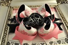 """Boutique Stacked Ballet Hair Bow $10 measures approximately 4.5""""-5"""" wide.   Bangles n Bows"""