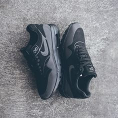 SOLD ❌ Nike Air Max 1 Ultra Moire Triple Black Worn once lightly around my house. In new condition, great shoe just not the style for me! Full retail price is $130, Lower on ♏️erc ($100) Nike Shoes Athletic Shoes