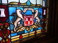 Bon Accord stained glass window in the Town House, Aberdeen - Doors Open Days Adventures