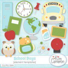 School Days Templates cudigitals.com cu commercial template scrap scrapbook digital graphics Cameron #digitalscrapbooking #photoshop #digiscrap #scrapbooking