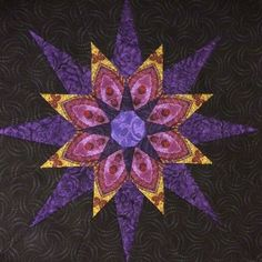 Block 12 Solstice Quilt from Jinny Beyer Quilting Ideas, Quilting Projects, Quilt Patterns, Star Quilts, Quilt Blocks, Foundation Piecing, Paper Piecing, Paracord, Triangles