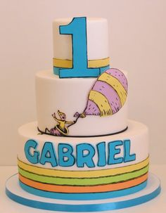Oh, The Places You'll Go - by ChantillyCakeDesigns @ CakesDecor.com - cake decorating website