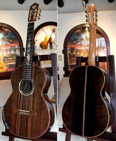 African Walnut back & side, hauser braced Sinker Redwood top. From luthier Renato Bellucci.