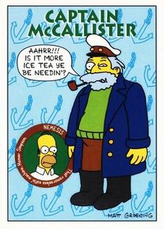 1993 SkyBox the Simpsons #S33 Captain McCallister Front