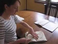 book folding tutorial, book art, fold book, alter book