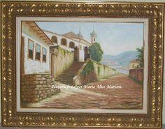 Pintura em tela - Igreja de Ouro Preto