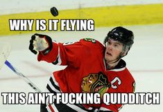 captain jonathan toews of chicago blackhawks, ladies and gentlemen. and a magic puck.